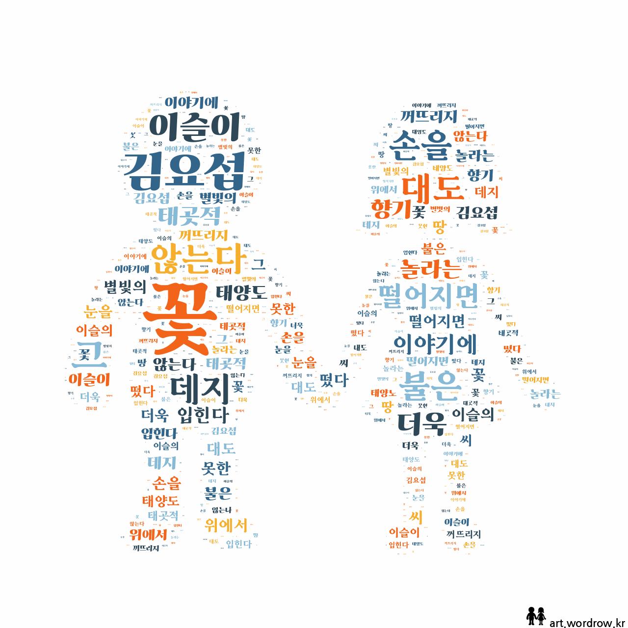 워드 클라우드: 꽃 [김요섭]-19